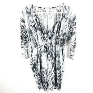 (V1-11) LoLo XL Shift Dress Animal Print Metallic